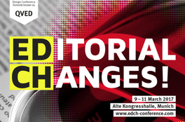 Editorial Design Konferenz EDCH, formerly known as QVED